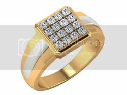 14k Yellow Gold 0.60 Cts Certified Diamond Jewelry Cluster Ring Gift