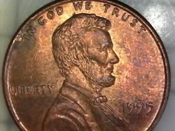1995 P Ddo Penny Lincoln Cent Double Die Obverse Motto Liberty - Error Variety