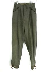 Vtg Wool Swedish Trousers Military Army Wwii 2 Crown 28x32 Hunting Wool Pants