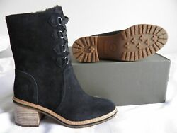 Sienna High Water Proof Suede Boots Black Womenand039s Size 8.5