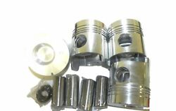Federal Mogul P12196p Std Engine Pistons Kit Of 4 Pcs 12196p Fits Ford Tractor