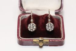 Antique Ottoman Style 8k Gold New Made Natural Rose Cut Diamond Earring