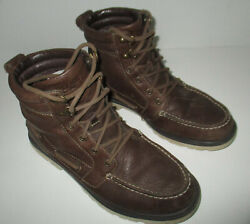 Mens Sperry Top Sider Chukka Lug Weatherproof Leather Boots Sts14151 Sz 7.5
