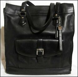 COACH CHARLIE LARGE NORTH SOUTH LEATHER SHOPPER TOTE PURSE F27823 $49.99