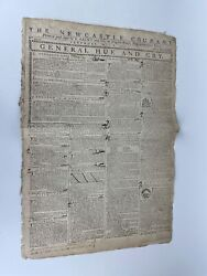 """1779 Revolutionary War News Paper """"the Newcastle Courant """"general Hue And Cry"""""""