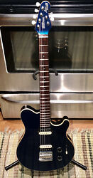 Ernie Ball Music Man Axis Super Sport.euc.ohsc.made In The Usa.matched Headstock
