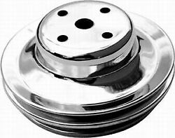 Bb Chevy Double Groove Long Water Pump Pulley Racing Power Co-packaged R9723