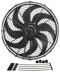 Derale 16in Dyno Cool Curved Bl Ade Electric Fan
