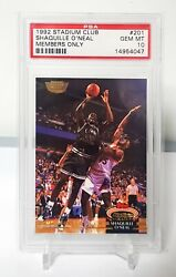 Shaquille Oand039neal 1992 Stadium Club Members Only Rc Rookie 201 Psa10 Gem Mint 📈