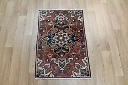 Antique North West Persian Rug 85 X 58 Cm Hand Knotted Wool Rug