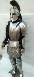300 Movie Medieval King Roman Spartan Helmet With Jacket War And Armour