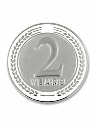 Pinmart's 2 Years Of Service Award Employee Recognition Gift Lapel Pin - White