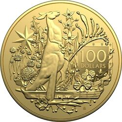 Australia 2021 100 Investment Coin - Australia's Coat Of Arms Gold In Stock