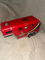 Breyer Toy Horse Trailer - Red New - W/no Box Original Tape On Doors And Lids