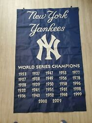 New York Yankees Embroidered Flag 28x44 Amazing 27 World Series Titles