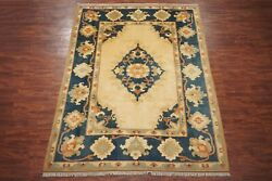 9x11 Vintage Turkish Oushak Hand-knotted Wool Area Rug Circa 1970 8and03911 X 11and039