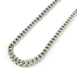 10k White Gold Solid Diamond Cut Franco Chain Necklace 2.8mm 16-24