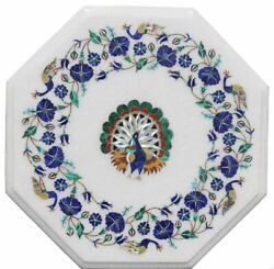 2' Marble Table Top Pietra Dura Inlay Art Work For Home Decor Antique Gifts
