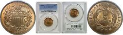 1869 Two Cent Piece Pcgs Ms-65 Rd