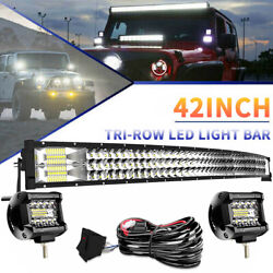 42inch 576w Spot Flood Led Light Bar Pods Offroad For Jeep Ford 4wd Suv Atv 40