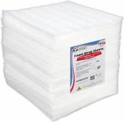 Foam Wrap Sheets For Shipping Packing 100 Pack 12 X12 Cushioning Moving Supplies