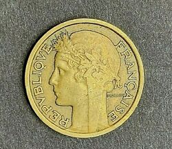 1939 France French 50 Centimes Head Of Republic Wwii Era Coin