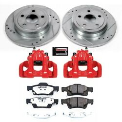 Kc5950-36 Powerstop Brake Disc And Caliper Kits 2-wheel Set Rear For Jeep Dodge