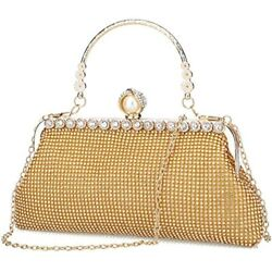 Gold Clutch Purses For Women Evening Bags And Clutches Handbags Purse Gold $37.63