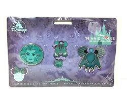 Minnie Mouse Main Attraction The Haunted Mansion Disney October 3 Pin Set Le