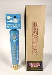 """Guinness Over The Moon Milk Stout Beer Tap Handle 11.5"""" Tall - Brand New In Box"""