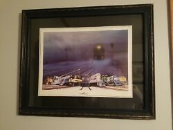 John Jordal Signed Painting Print Electro Motive Gm Lagrange Il Locomotives
