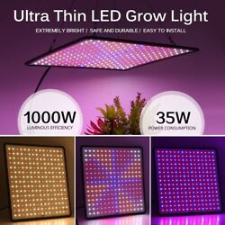 1000w Led Grow Light Panel Full Spectrum Phyto Lamp Ac85-240veu/us Indoor Outdor