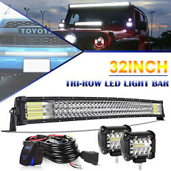 For 07-18 Toyota Tundra Led Light Bar Hidden Bumper Grille Cube Pods Wire Combo