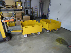 2 Shop Carts Trailer's Towable Front And Rear Hitch