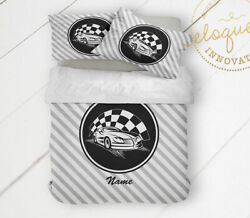 Race Car Bedding Personalized Comforter Set With Pillowshams Dirt Track Racing