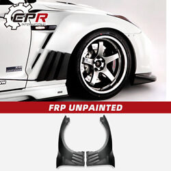For Nissan Gtr R35 2013 Ver Vrs Style Frp Front Fender With Carbon Louver Fin
