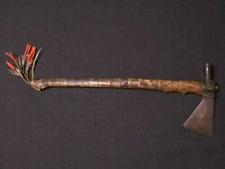 Native American Pipe Tomahawk With Pendant - Plains Indian -1880-1920