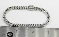 GORGEOUS STERLING SILVER JOHN HARDY BRACELET WITH DIAMONDS AND SAPPHIRE #A8 $499.00