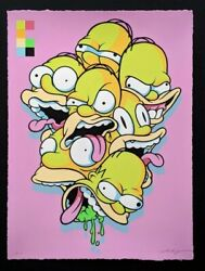 Homer Isolation By Steve Seeley Edition 25 Print Jerkface Johnny In Paris