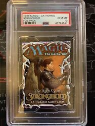 1998 Magic The Gathering Graded Psa 10 Stronghold Foil Pack, Mox Diamond, Queen