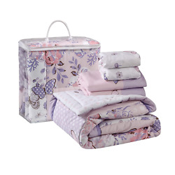 Butterfly Baby Nursery Portable Standard Crib Bedding Set 3 Pieces for Baby NEW