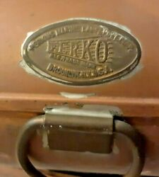 Vintage Perko Copper Chart Case W 4 Charts Florida 1958 1962 And Long Island 1952