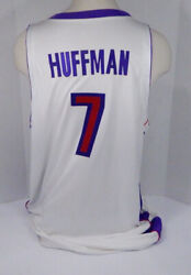 2002-03 Toronto Raptors Nate Huffman 7 Game Issued White Jersey Dp05892