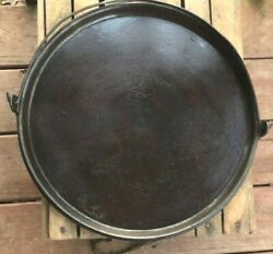 Vintage Unmarked 14and039and039 Round Bale Griddle With Gatemark