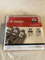 Genuine Canon Bci-24 Multi-pack 2 Black And 1 Color Ink Cartridge