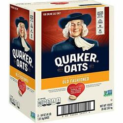 Quaker Old Fashioned Rolled Oats, Non Gmo Two 64oz Bags In Box, 90 Servings