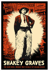 Scrojo Shakey Graves The Barr Brothers Belly Up Tavern 2015 Poster Shakey_1505s
