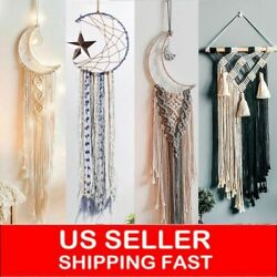 Bohemian Tassel Macrame Faux Wall Hanging Tapestry Ornament Home Art Room Decor