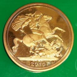 2010 22ct Gold Plated Unc Uncirculated High Grade Coin Ref/0020