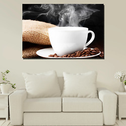 Caffeine Fix Cafe And Coffee Canvas Art Print For Wall Decor